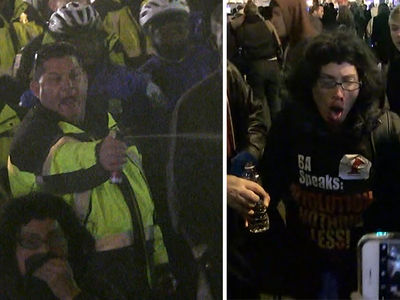 Pepper Spray Fired at Anti-Trump Rally in D.C. (VIDEO + PHOTOS)