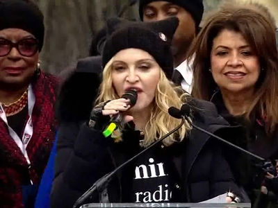 Madonna At Women's March ... 'F*** You' To The Haters (VIDEO)