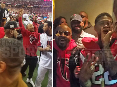 ATL Falcons Sidelines Packed With Huge Stars ... Usher, Ludacris, Jeezy (VIDEO)