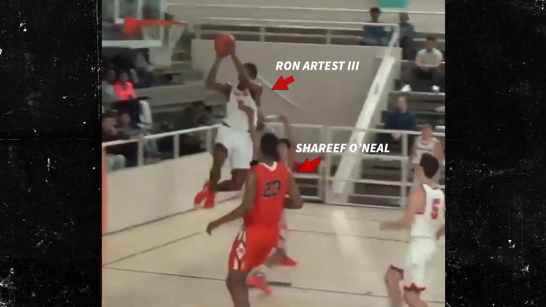 6c9382a122e5 Shareef O Neal and Ron Artest III GO OFF in H.S. Basketball Showdown ...