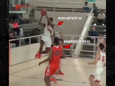 Shareef O'Neal and Ron Artest's Son BALL OUT Like Their Daddies In H.S. Showdown (VIDEO)