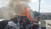 ATL Braves Player Survives Fiery Car Crash ... T-Boned By Stolen Cop Car (PHOTO GALLERY + VIDEO)