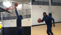 Boxing Champ Anthony Joshua Sucks at Dunking Basketball (VIDEOS)