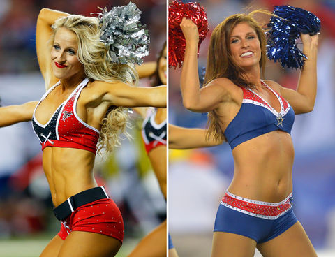 Falcons Cheerleaders vs. Patriots Cheerleaders