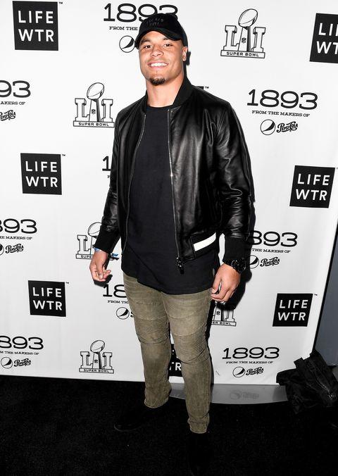 NFL player Dak Prescott attends LIFEWTR: Art After Dark, including 1893, at Club Nomadic during Super Bowl LI Weekend