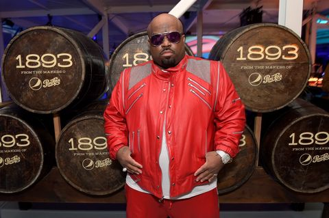 Singer CeeLo Green swings by the 1893 cocktail lounge during the LIFEWTR: Art After Dark party at Club Nomadic during Super Bowl LI​ Weekend