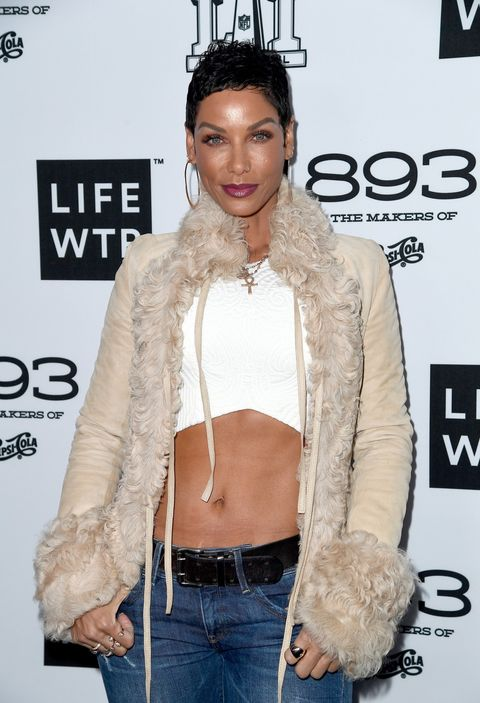 Model Nicole Mitchell Murphy attends LIFEWTR: Art After Dark, including 1893, at Club Nomadic during Super Bowl LI Weekend