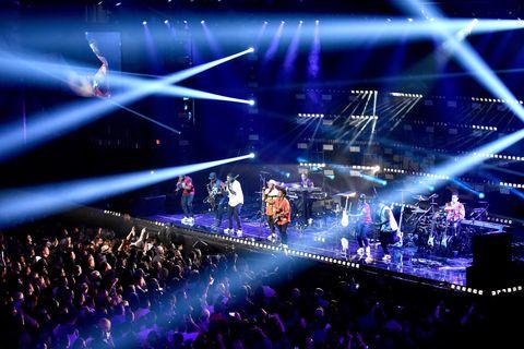 Singer Bruno Mars performs onstage at LIFEWTR: Art After Dark, including 1893, at Club Nomadic during Super Bowl LI Weekend