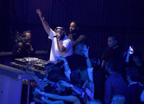 DJ Khaled performs at LIFEWTR: Art After Dark, including 1893, at Club Nomadic during Super Bowl LI Weekend