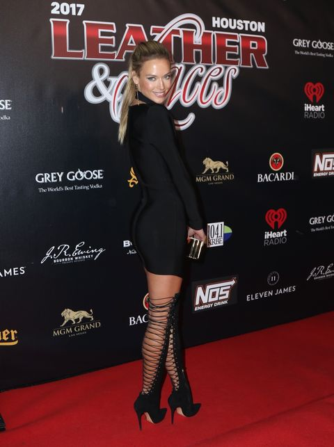 Model Hannah Ferguson attends the 4th Annual 'Leather & Laces' Spectacular During Super Bowl LI Weekend at Hughes Manor
