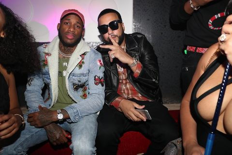 (L-R) Relle Bey and French Montana attend ONO Houston