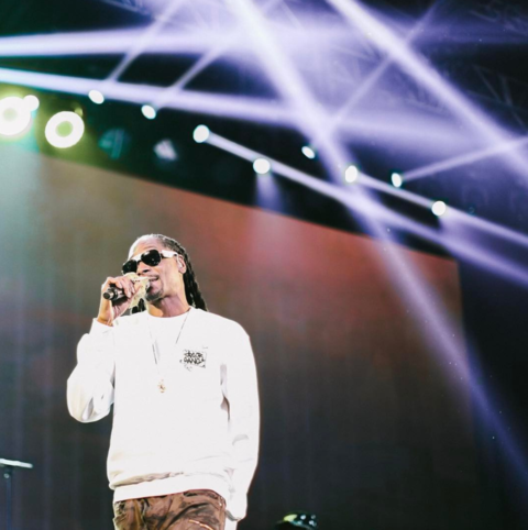 Snoop Dogg performs at the EA Sports Bowl