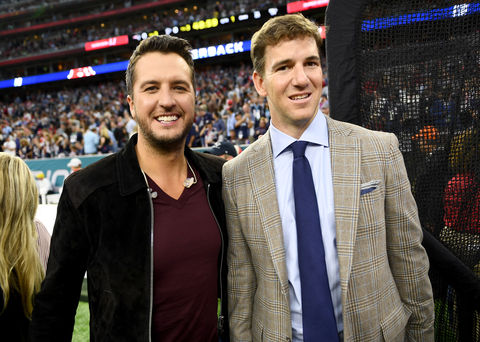 Luke Bryan and Eli Manning