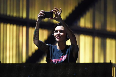 Ruby Rose performs at the DIRECTV NOW party