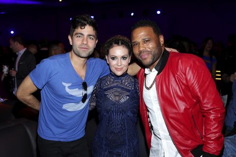 Adrian Grenier, Alyssa Milano, and Anthony Anderson at the Rolling Stone Live