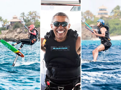 Barack Obama Goes Kitesurfing With Richard Branson (PHOTO GALLERY + VIDEO)