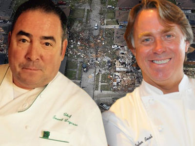 Celebrity Chefs Emeril Lagasse, John Besh Help New Orleans Tornado Victims (PHOTOS)