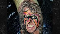 Insane Ultimate Warrior Tattoo ... FEEL THE POWER!! (VIDEO)