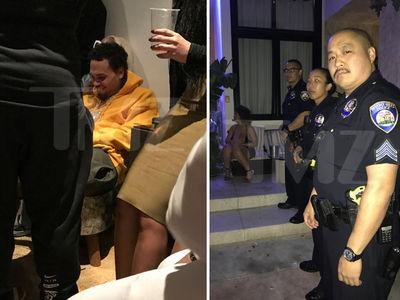 Chris Brown Ditches Migos Pre-GRAMMY Party As Cops Show (PHOTOS + VIDEO)
