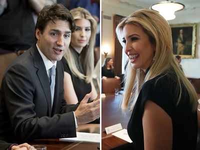 Ivanka Trump Joins Justin Trudeau in Women's Fight (PHOTO GALLERY)