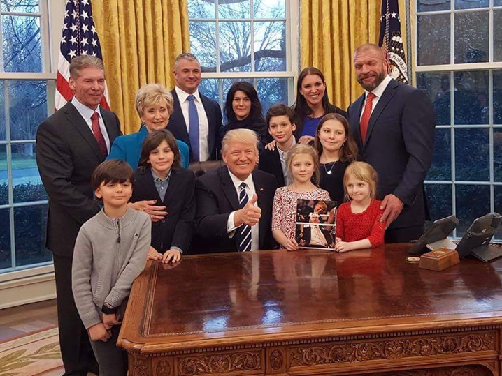 Vince mcmahon donald trump shaved head