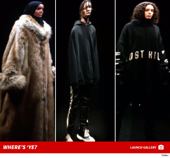 7316542ce77 Kanye West just revealed his latest line in the Yeezy collection ... but  the rapper was noticeably absent from the show. West s Season 5 just  premiered ...