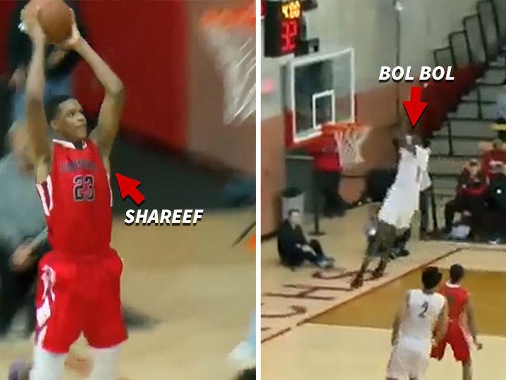 1465f91e2a08 Shareef O Neal and Bol Bol Trade High-Flyin  Highlights In H.S. Basketball  Matchup