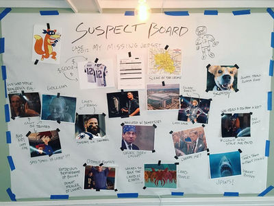 Tom Brady's 'Suspect Board' In Missing Jersey Case ... Lady Gaga, Edelman, Gollum (PHOTO)