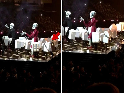 Katy Perry's Backup 'House' Dancer Falls Offstage at Brit Awards (VIDEO + PHOTO)