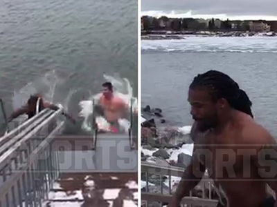 DeAngelo Williams & Gary Barnidge Go ICE SWIMMING In Finland (VIDEO)