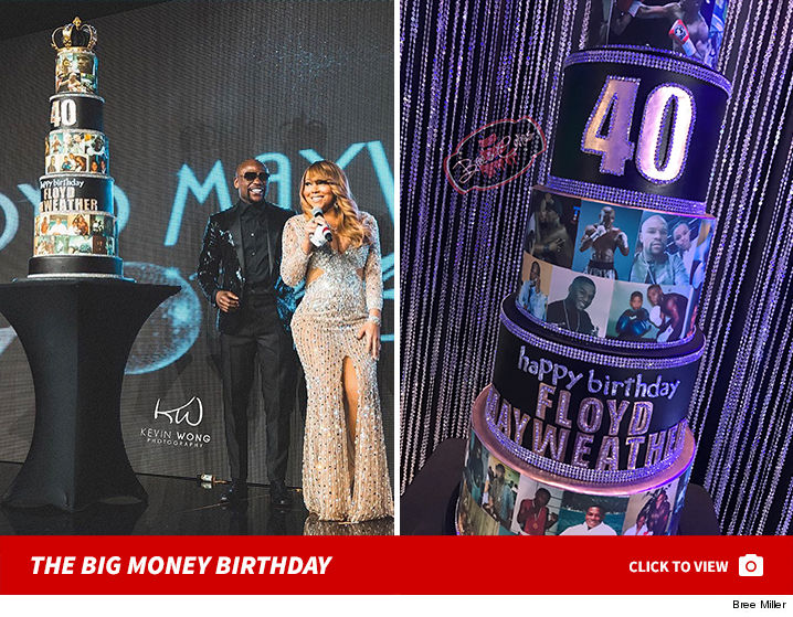 Floyd Mayweather's Birthday Cake Cost $3,000 ... Came With Crystals ...
