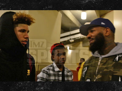 LaMelo Ball Gets Pep Talk From The Game ... After Playoff Loss (VIDEO)