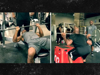 Adrian Peterson BEASTING OUT In Gym ... I'm NOT On a Decline (VIDEO)