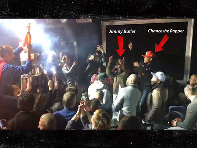 Chicago Bulls Stars Party with Chance the Rapper After Beating Warriors (VIDEO)