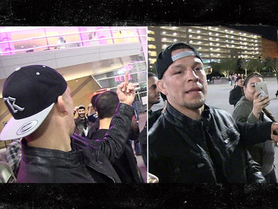 Nate Diaz Jokingly Cusses Out Khabib Hecklers ... Who Wants Some?! (VIDEO)