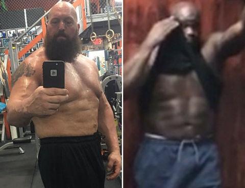 Big Show (45) vs. Shaq (45) --  BIGGEST abdominal showdown