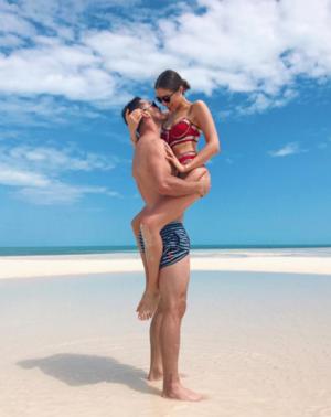 Olivia Culpo and Danny Amendola - Sexy Beach Bums