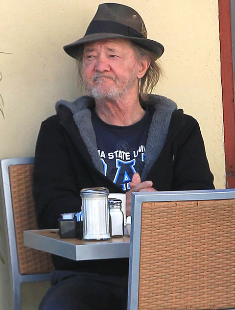 Tracey Walter -- now 69 years old -- was photographed earlier this month looking out to lunch.