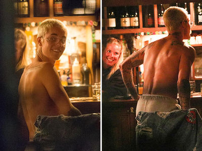 Justin Bieber Goes Shirtless in New Zealand Bar ... Bartender's LOVING IT!! (PHOTOS)