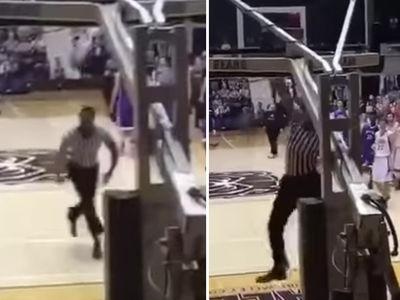 High School Basketball Ref Has INSANE DUNKS ... But I Can Do Better! (VIDEO)