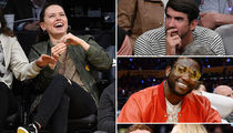 'Star Wars' Star Daisy Ridley -- Floored at the Lakers Game (PHOTO GALLERY)