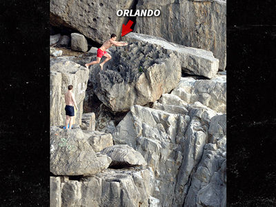 Orlando Bloom Leaves a New Cliff-hanger By Cliff Jumping (PHOTO)