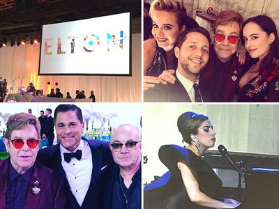 Elton John Turns 70, Draws HUGE Celeb Crowd to Birthday Party (PHOTO GALLERY + VIDEO)