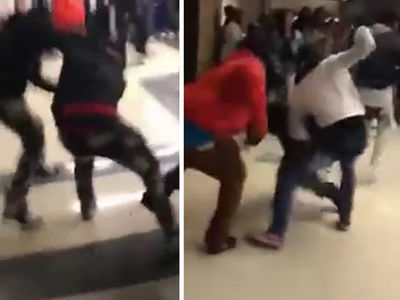 Fans Brawl at McDonald's All-American Game ... Security to the Rescue (VIDEO)