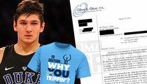 Duke University Threatens Shirt Company for Mocking Grayson Allen (DOCUMENT)