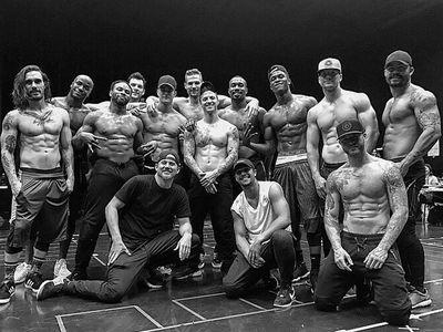 Channing Tatum Grills Vegas 'Magic Mike Live' Dancers (PHOTOS)