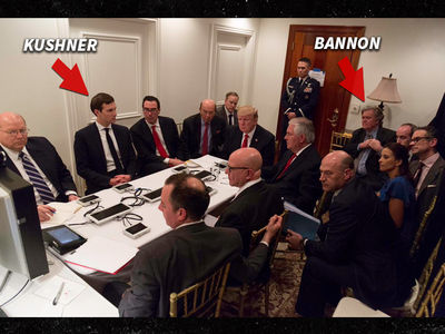 President Trump's Got His Back to Steve Bannon During National Security Briefing on Syria Strikes (PHOTO)