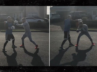 Conor McGregor Boxing Drills for Mayweather Fight (VIDEO)
