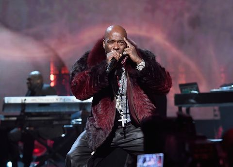 Treach performs 2017 inductee Tupac Shakur onstage at the 32nd Annual Rock & Roll Hall Of Fame Induction Ceremony at Barclays Center.