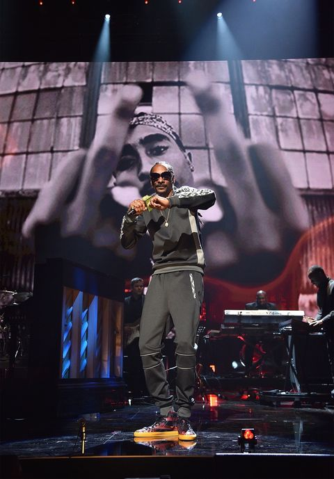 Snoop Dogg performs onstage during the 32nd Annual Rock & Roll Hall Of Fame Induction Ceremony at Barclays Center.